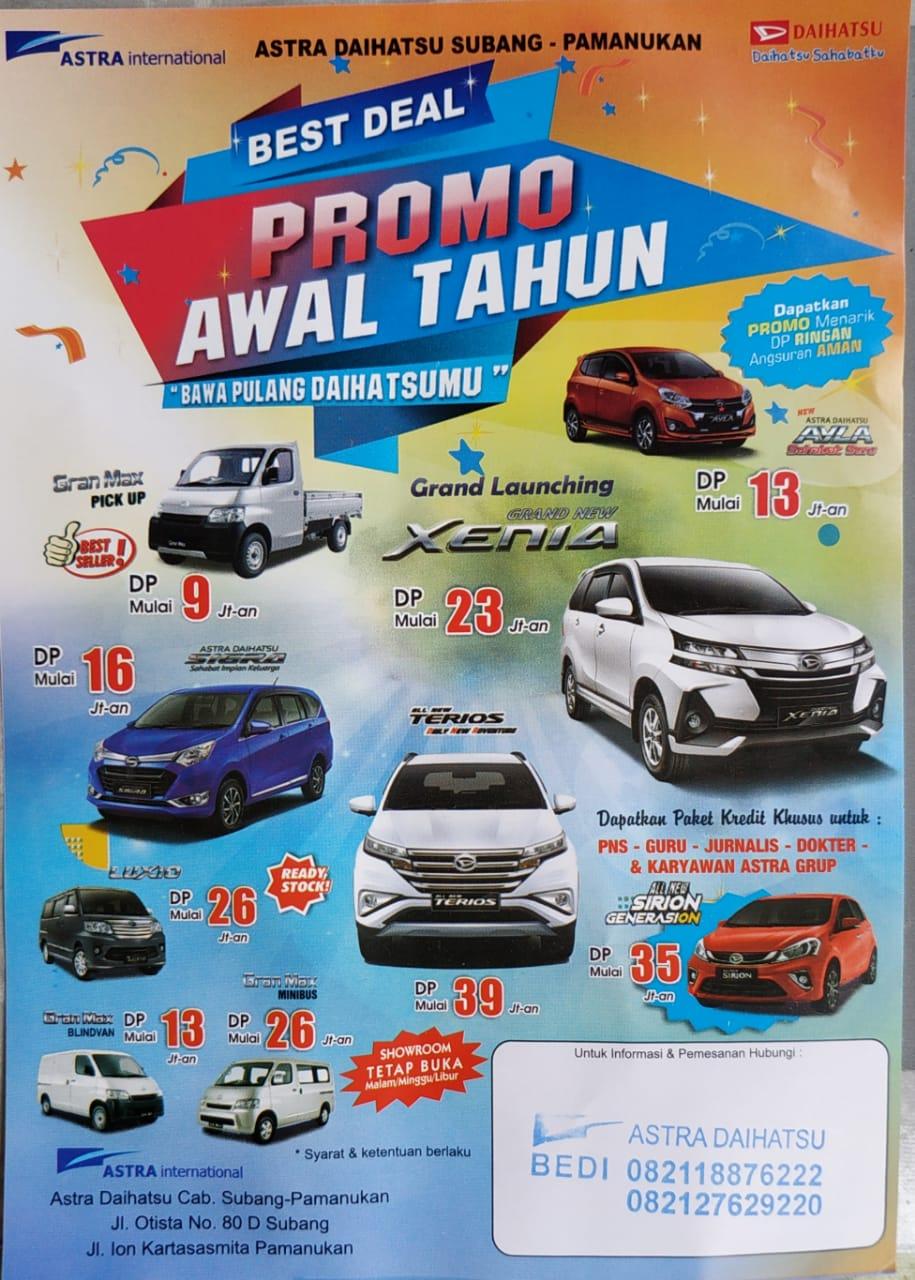 Promo Daihatsu DP ringan 2019